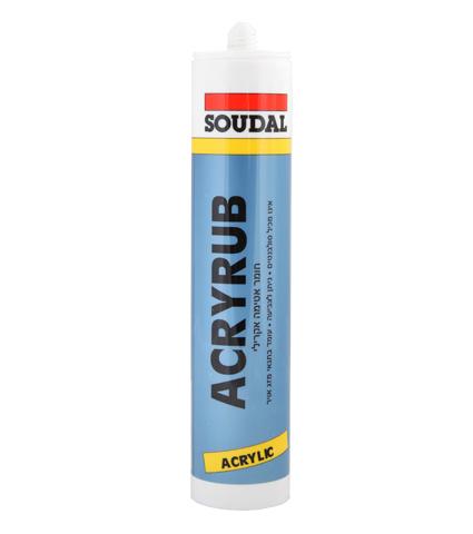 מרק/מסטיק אקרילי     SOUDAL ACRYRUB